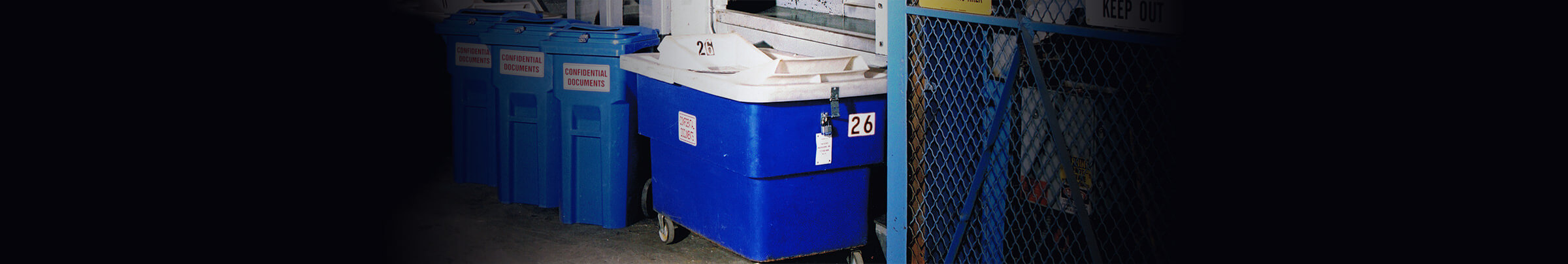 TRI-STATE SHREDDING OFFERS A WIDE VARIETY OF LOCKABLE SECURITY CONTAINERS!
