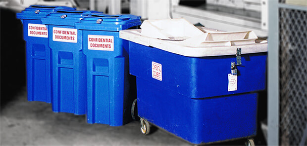 Secure Confidential Document Bins