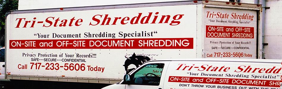 Tri-State Shredding Pickup Truck and Van